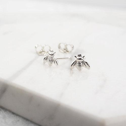 Tiny Bee Stud Earrings