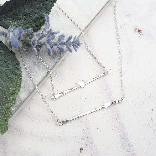 Organic Charm Bar Necklace