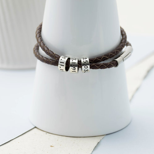 Women's Leather Story Bracelet
