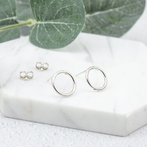 Eternity Circle Stud Earrings