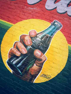 Hand painted mural sign in Musella, GA