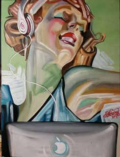 """""""Rhapsody"""" Latex on canvas"""