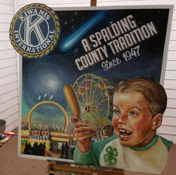 Hand painted art and sign for Kiwanis of Griffin, GA