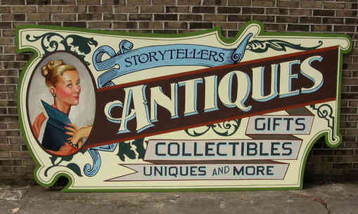 Hand painted artistic sign