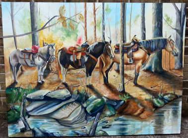 A custom commission - Latex on canvas