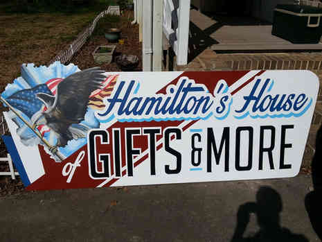 Hand painted sign