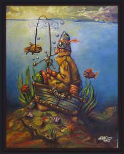 """The Unsinkable Captain Cork"" Oil on canvas"