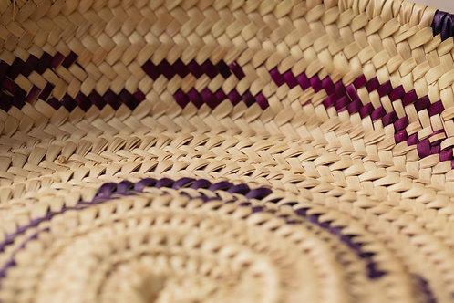 Corbeille magenta/violet 2 anses Ø 31 cm.
