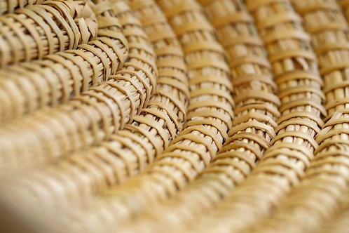 Corbeille marrakchi ovale naturelle