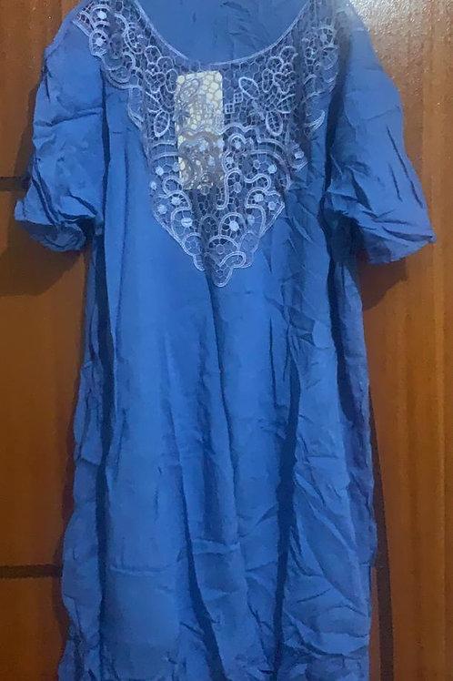 Vestido Azul Cobal