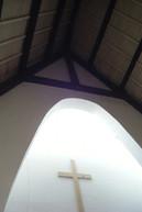 Lumière zénithale dans la chapelle de la Rencontre