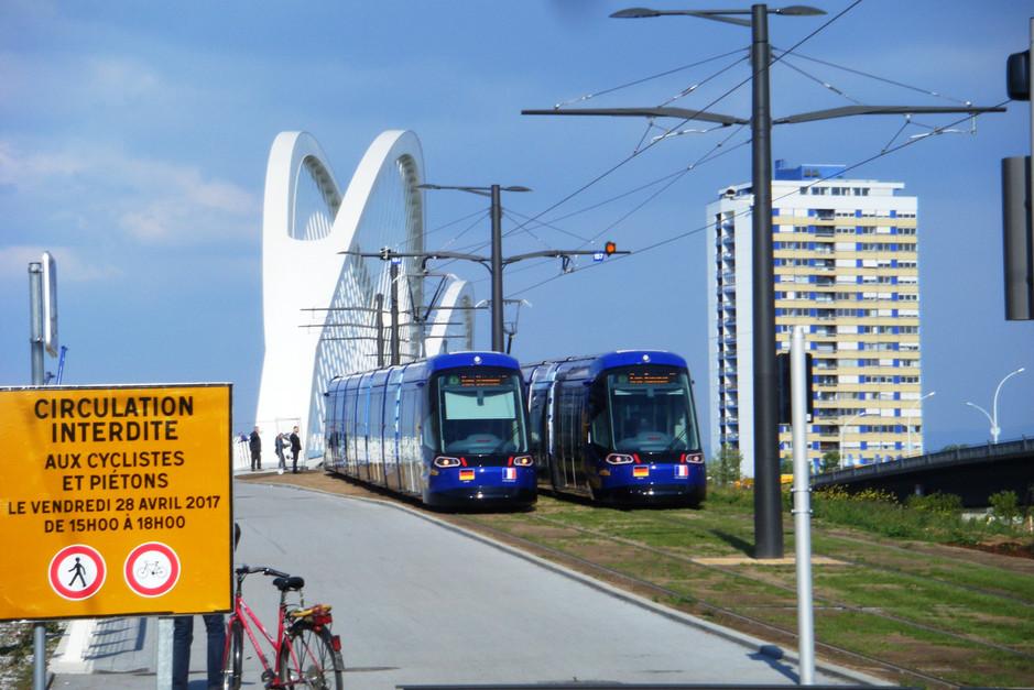 Tram inaugural vers Kehl, 29 avril 2017.