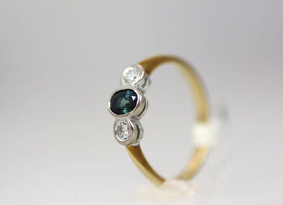 Australian Sapphire & Diamond Ring