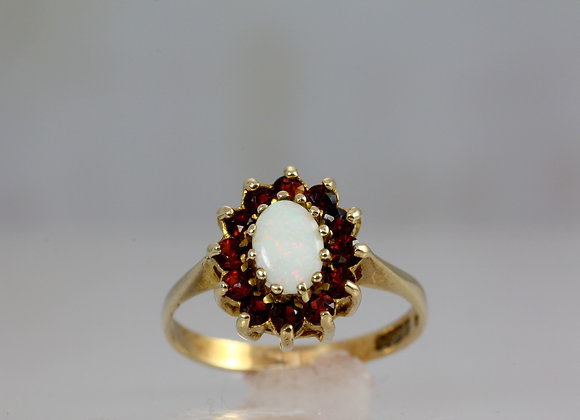 Opal & Garnet Cluster