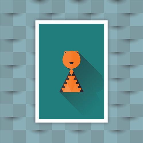 Tiger - Minimal Art Print