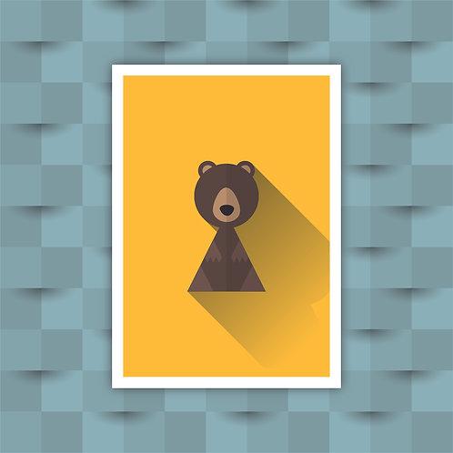 Bear - Minimal Art Print