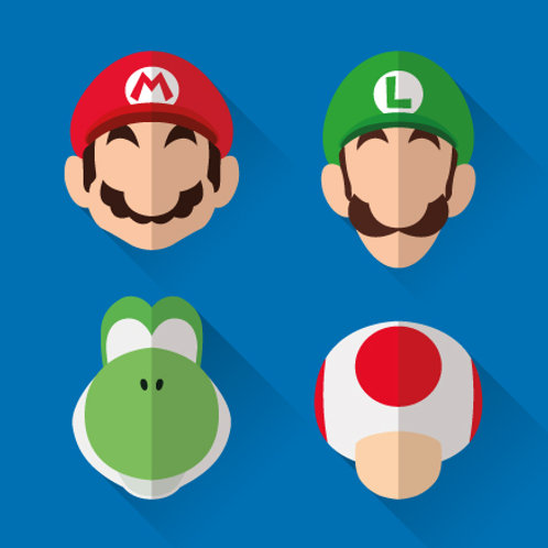 Mario, Luigi, Yoshi, Toad