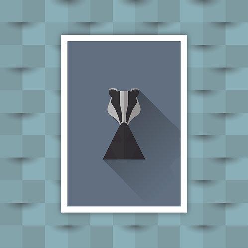 Badger - Minimal Art Print