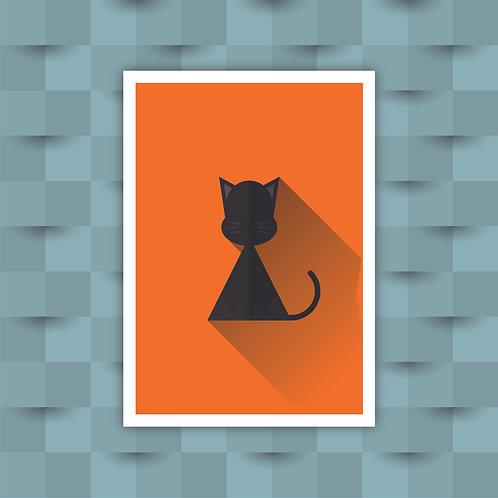 Cat - Minimal Art Print