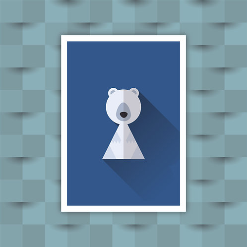 Polar Bear - Minimal Art Print