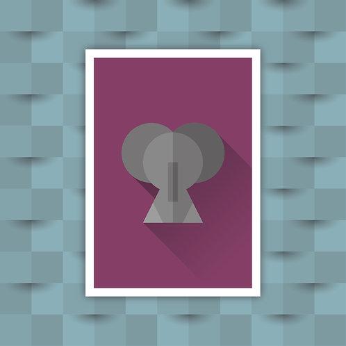 Elephant - Minimal Art Print