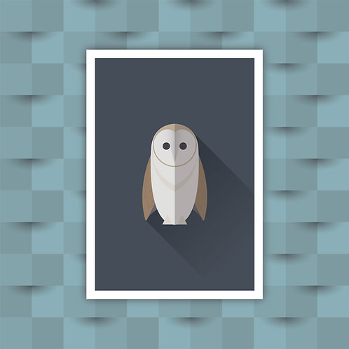 Barn Owl - Minimal Art Print