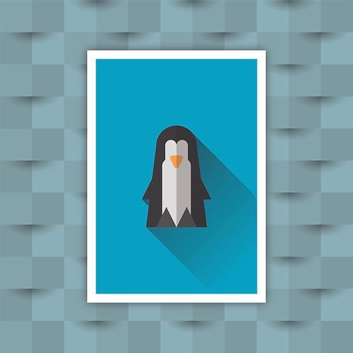 Penguin - Minimal Art Print