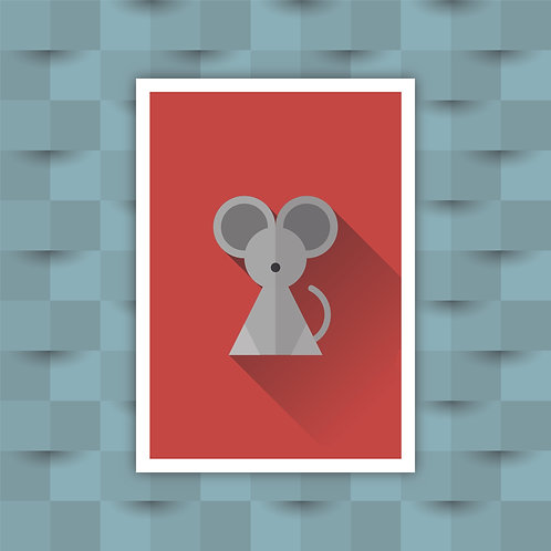 Mouse - Minimal Art Print