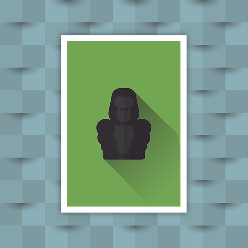 Gorilla - Minimal Art Print
