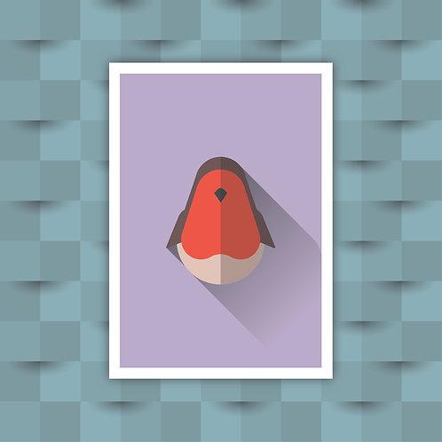 Robin - Minimal Art Print