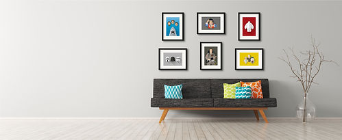 modern minimal Illustrated prints on wal