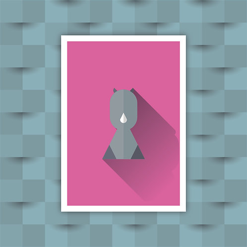 Rhino - Minimal Art Print