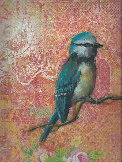 "Blue Jay 12""x 12"" Print on Fine Paper"