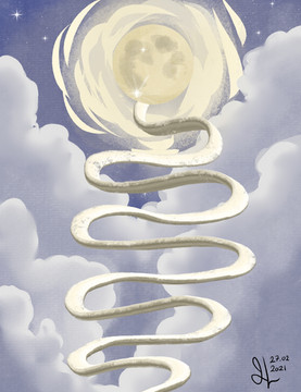 The stairs up to to the moon