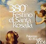 """copertina """"380º Festino di Santa Rosalia"""" Laura Mollica, Regia di Davide Rampello. Musiche originali di Mario Saroglia e della tradizione popolare siciliana."""