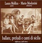 """copertina """"Ballate, preludi e canti di Sicilia"""" Laura Mollica Officina dell'Arte"""