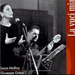 """copertina """"La vuci mia"""" Laura Mollica, Giuseppe Greco, Officina dell'Arte, Alberto Favara."""