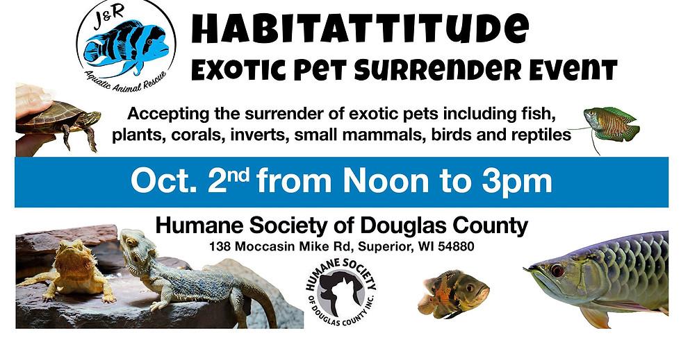 Habitattitude Exotic Pet Surrender Event - Superior
