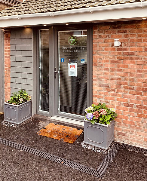 Deva Podiatry Foot Health Clinic Chester image of entrance to our private chiropodist Chester