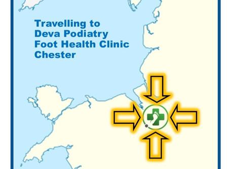 Visiting Deva Podiatry Foot Health Clinic, Chester