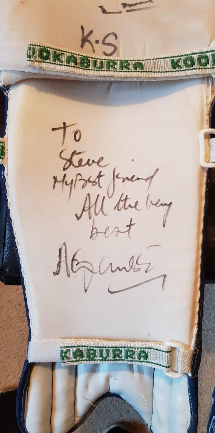 Mohammed Azharuddin signed leg pad
