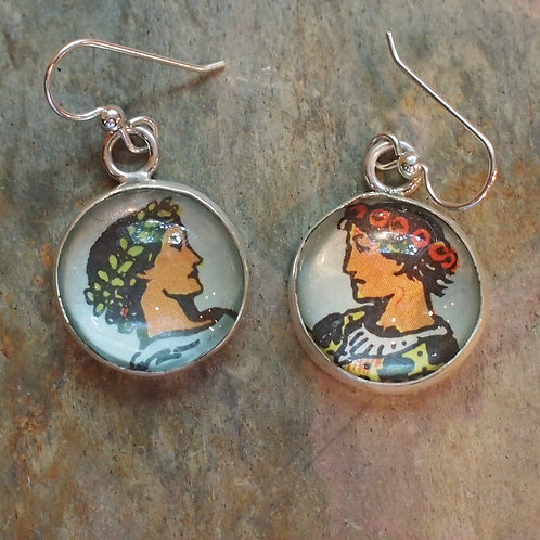 Two of Cups earrings