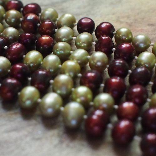 Pistachio and cranberry triple strand