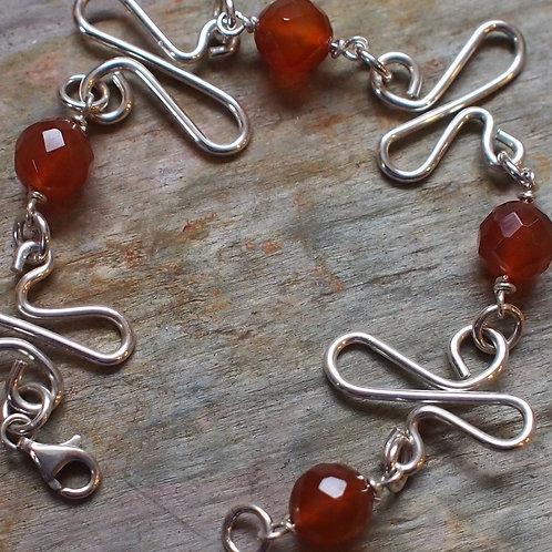 Carnelian swirl bracelet