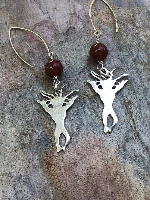 carnelian wild woman earrings