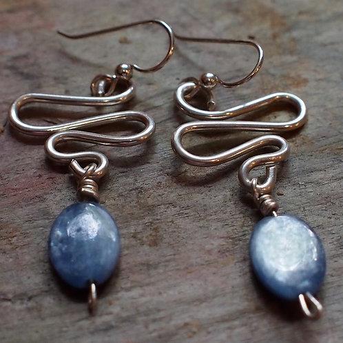Kyanite swirl earrings