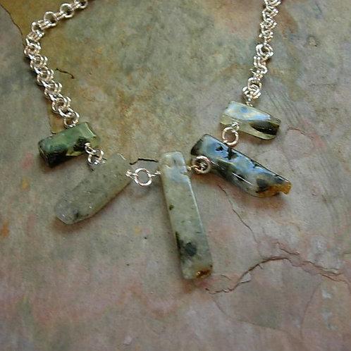 Prehenite necklace