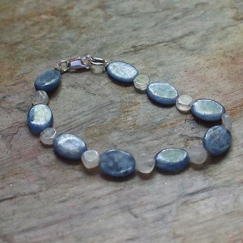 Kyanite and moonstone bracelet