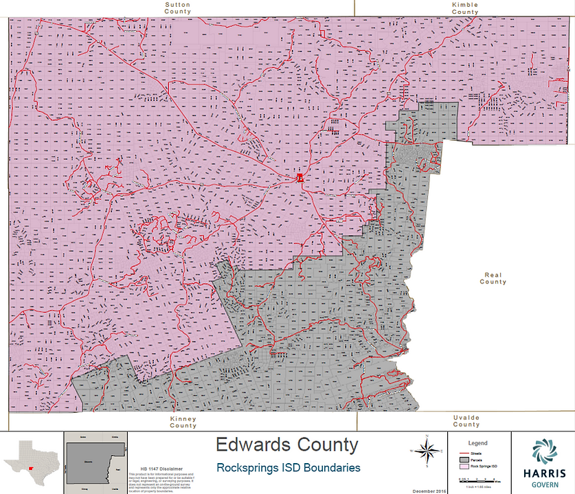 Edwards County Texas Map