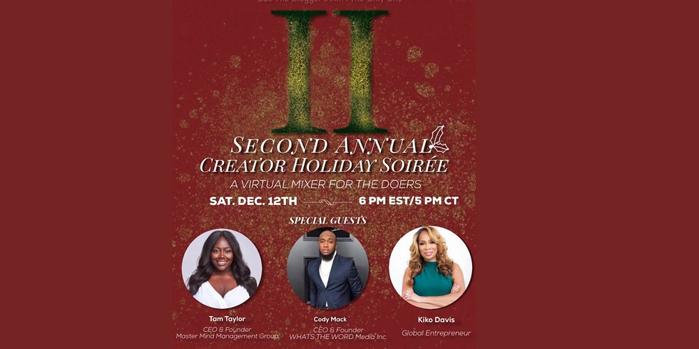Second Annual Creator Holiday Soiree